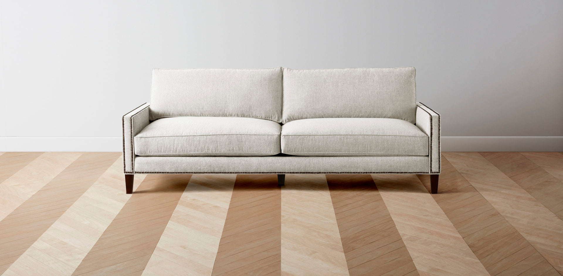 The Irving  - Performance Washed Linen White L Sectional