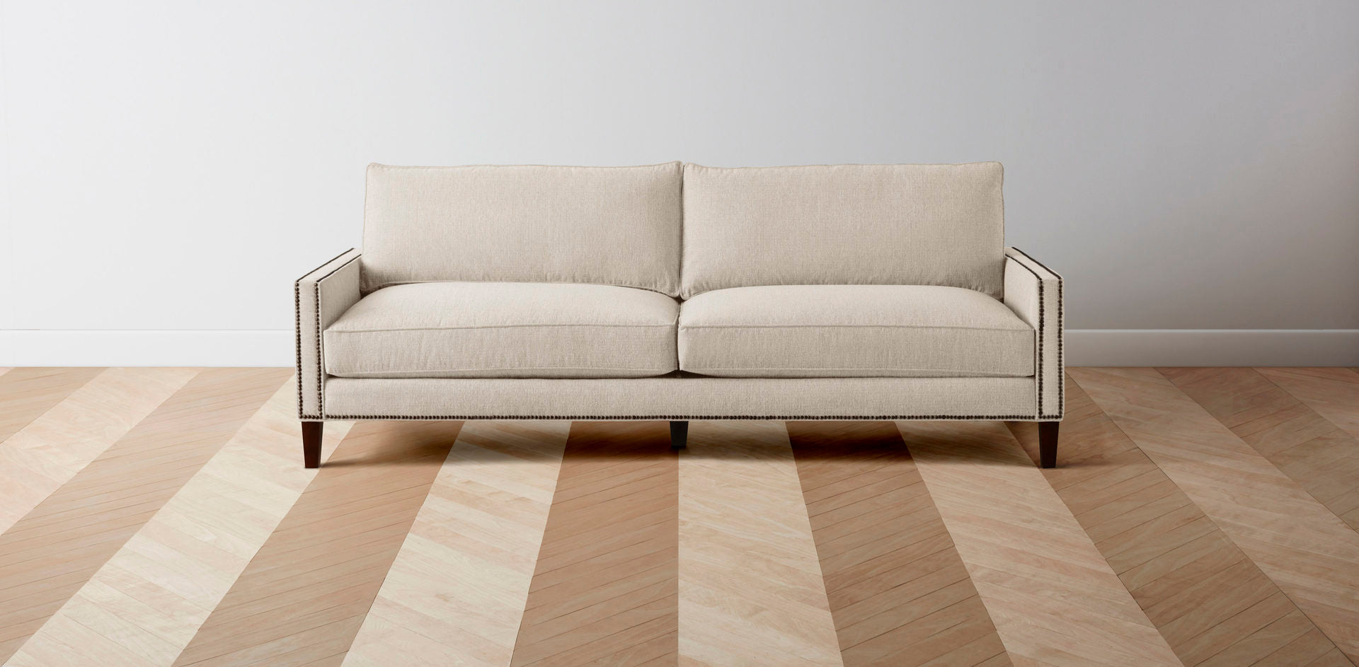 The Irving  - Performance Weave Ecru L Sectional