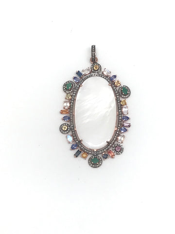 Mother Of Pearl Diamond Pendant