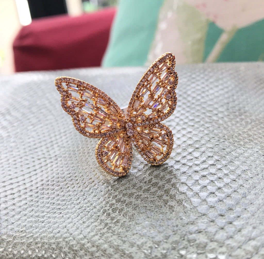 Adjustable Butterly Ring