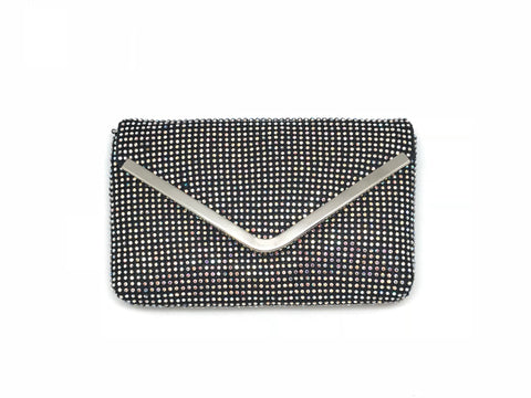 Crystal Mesh Envelope Clutch
