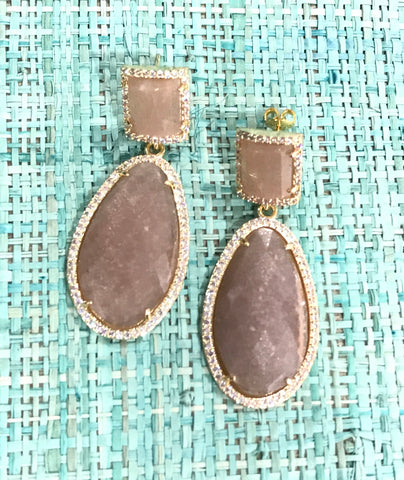 Agate Gemstone Earring