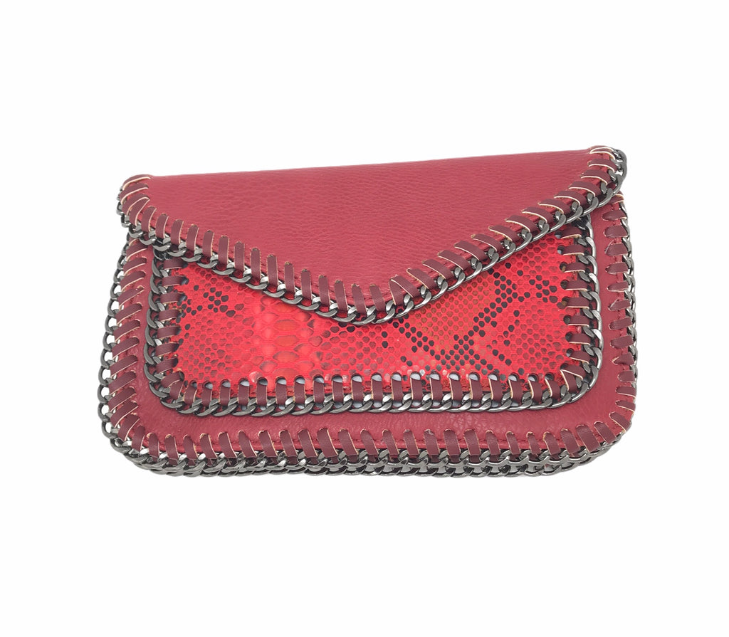Textured Red Handbag
