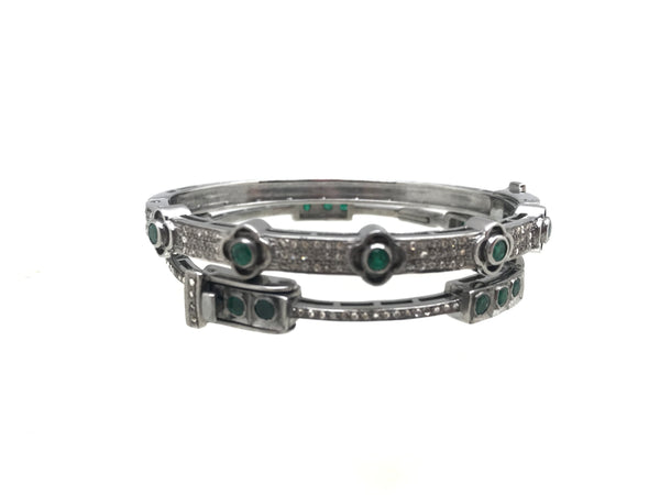 Diamond and Emerald Bracelets