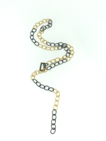 Two Tone Chain With Adjustable Clasp