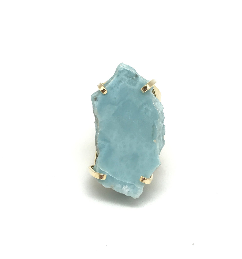 Larimar Nugget Ring