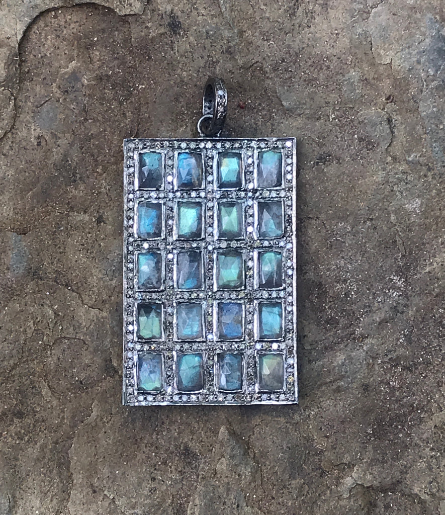 Laboradite Rectangle Pendant
