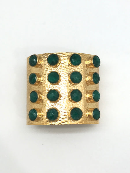 Wide Gemstone Cuff