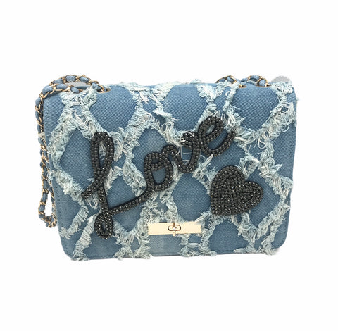 Denim LOVE Purse
