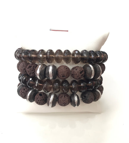 Brown Bracelet Set