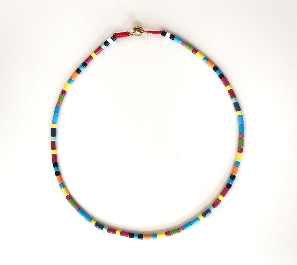 Colorful Layered Necklace Stack