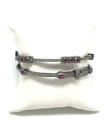 Ruby and Diamond Bracelets