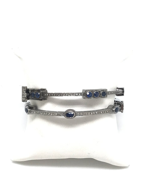 Blue Sapphire And Diamond Bracelets