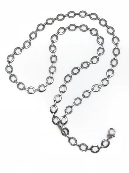 Long Diamond Double Clasp Chain