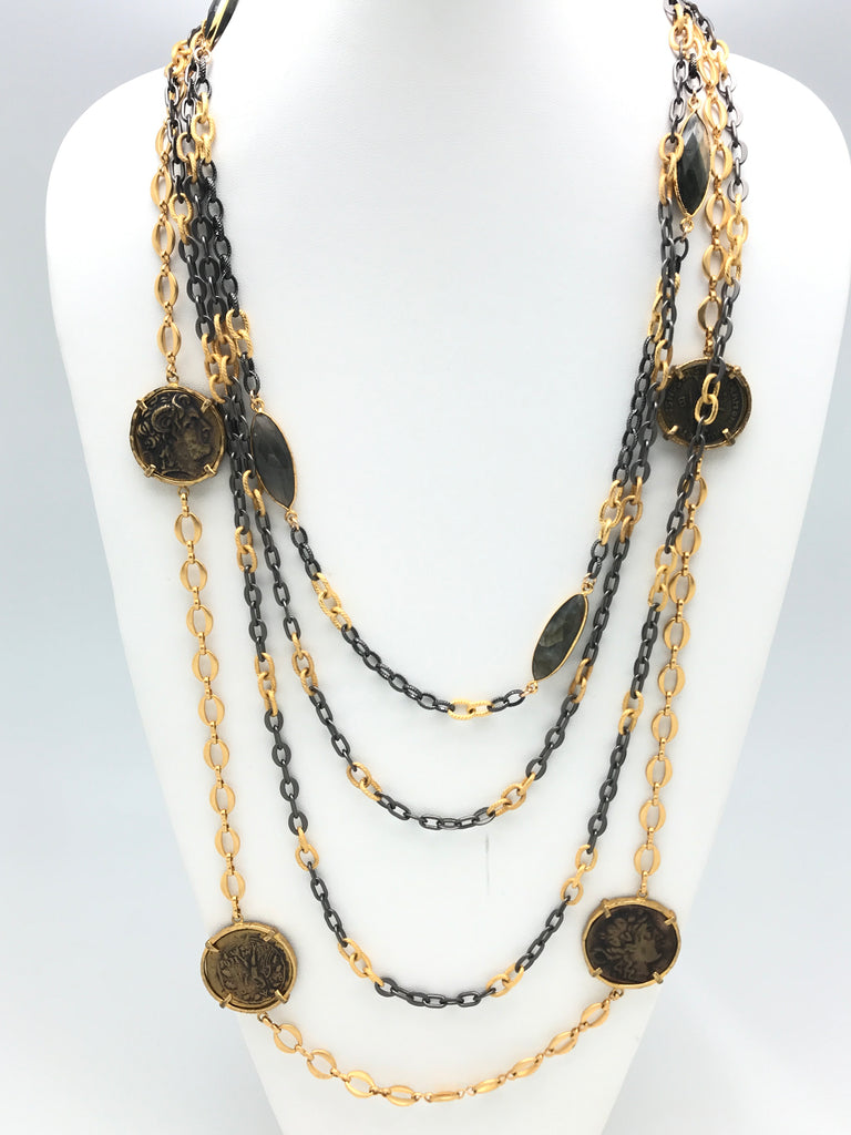 Two Tone Layering Necklaces