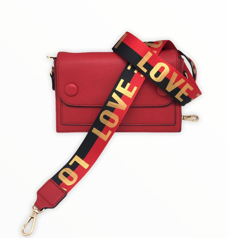 Red Bag With LOVE Strap