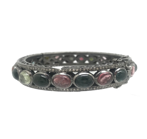 Tourmaline And Diamond Bracelet