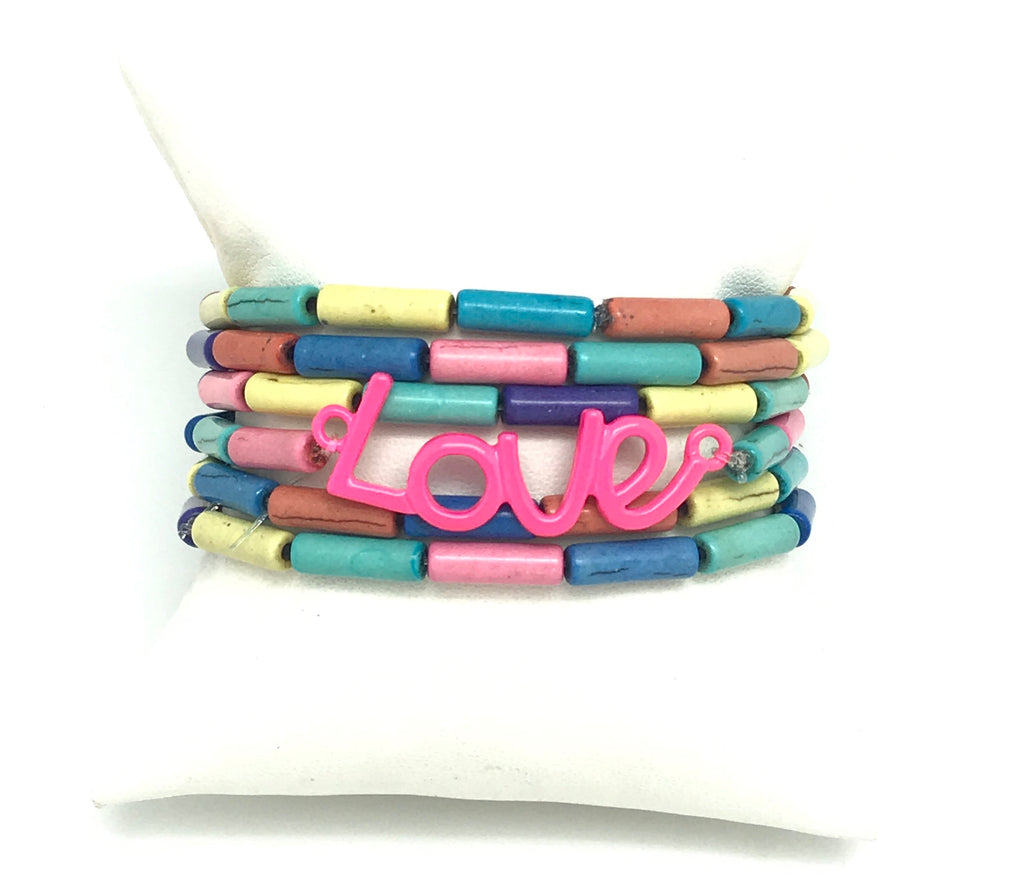 Colorful Love Bracelet Set