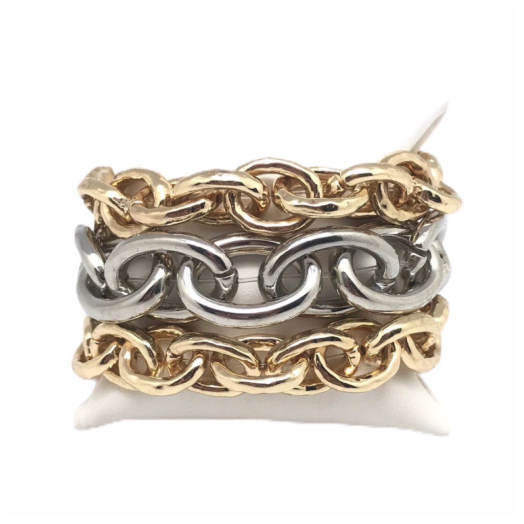 Metal Stretch Link Bracelets