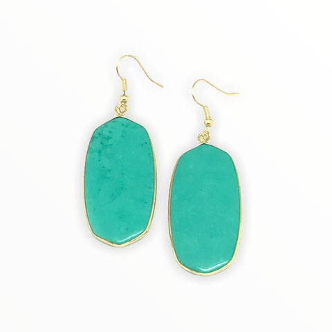 Colorful Slab Earring