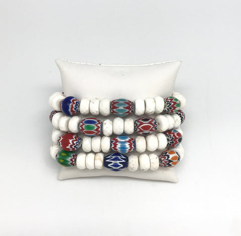 Colorful White Turquoise Bracelet Set