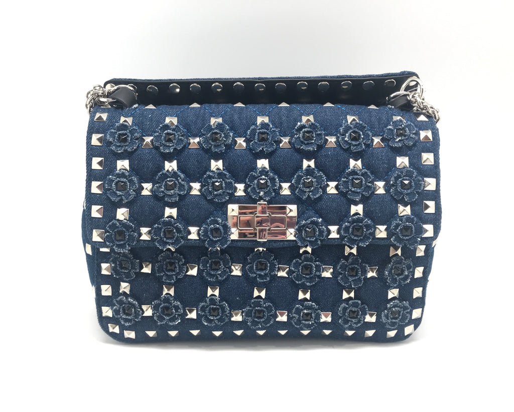 Denim Grommet Bag