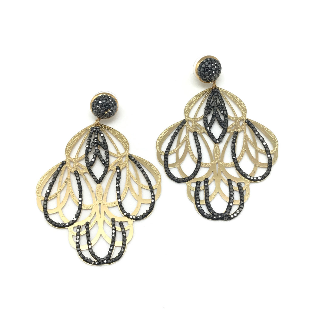 Two Tone Statement Earring