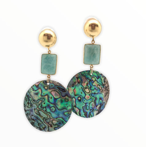 Abalone Statement Earring