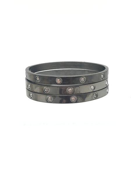 Black CZ Bangle