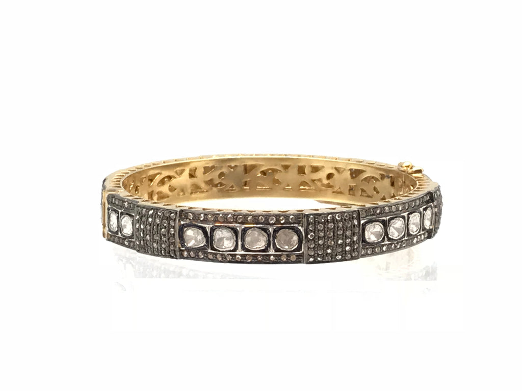 Diamond Multi Textured Bangle