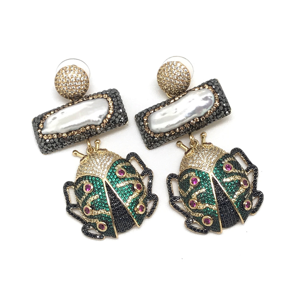 Beetle Statement Earring