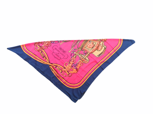 Fuchsia And Navy  Large Colorful Scarf