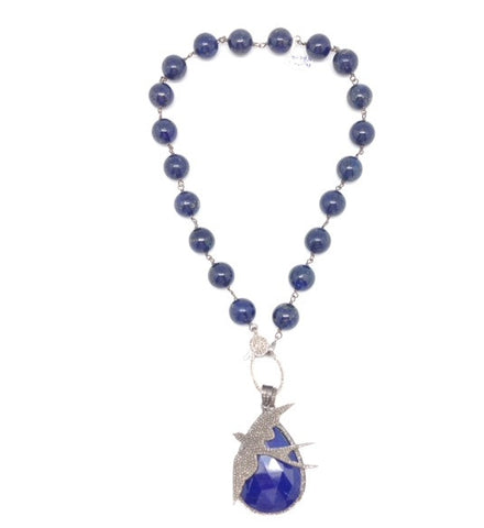 Lapis and Diamond Necklace