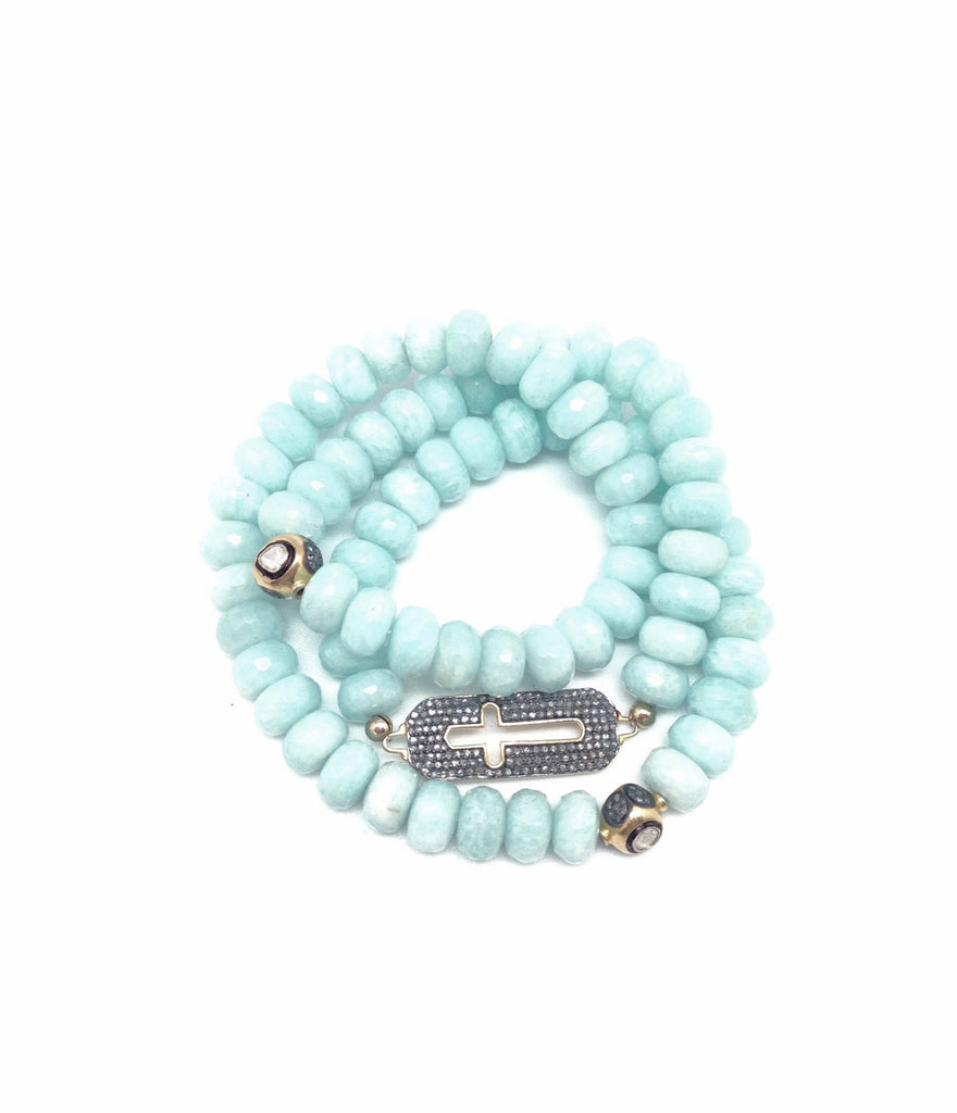 peruvian african agate mala triple products stretch and wrap pink bracelet opal