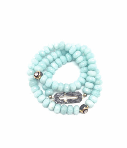 Amazonite Triple Wrap Bracelet