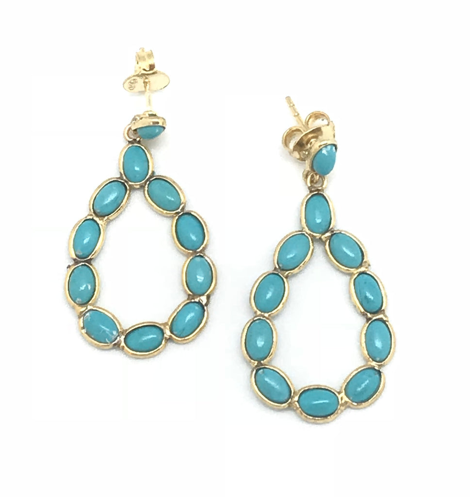 Oval Turquoise Dangle Earring