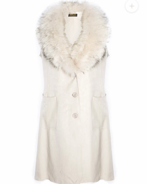 Fox Fur And Suede Long Duster