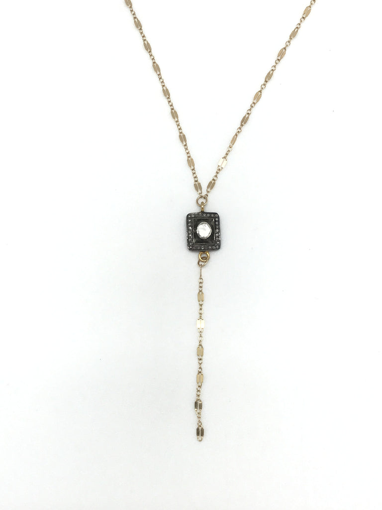 Diamond Disc Y Necklace