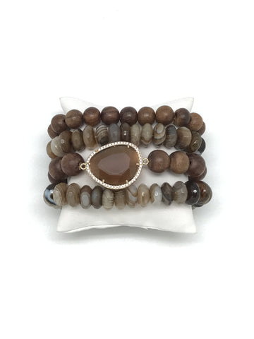 Brown Bracelet Stack
