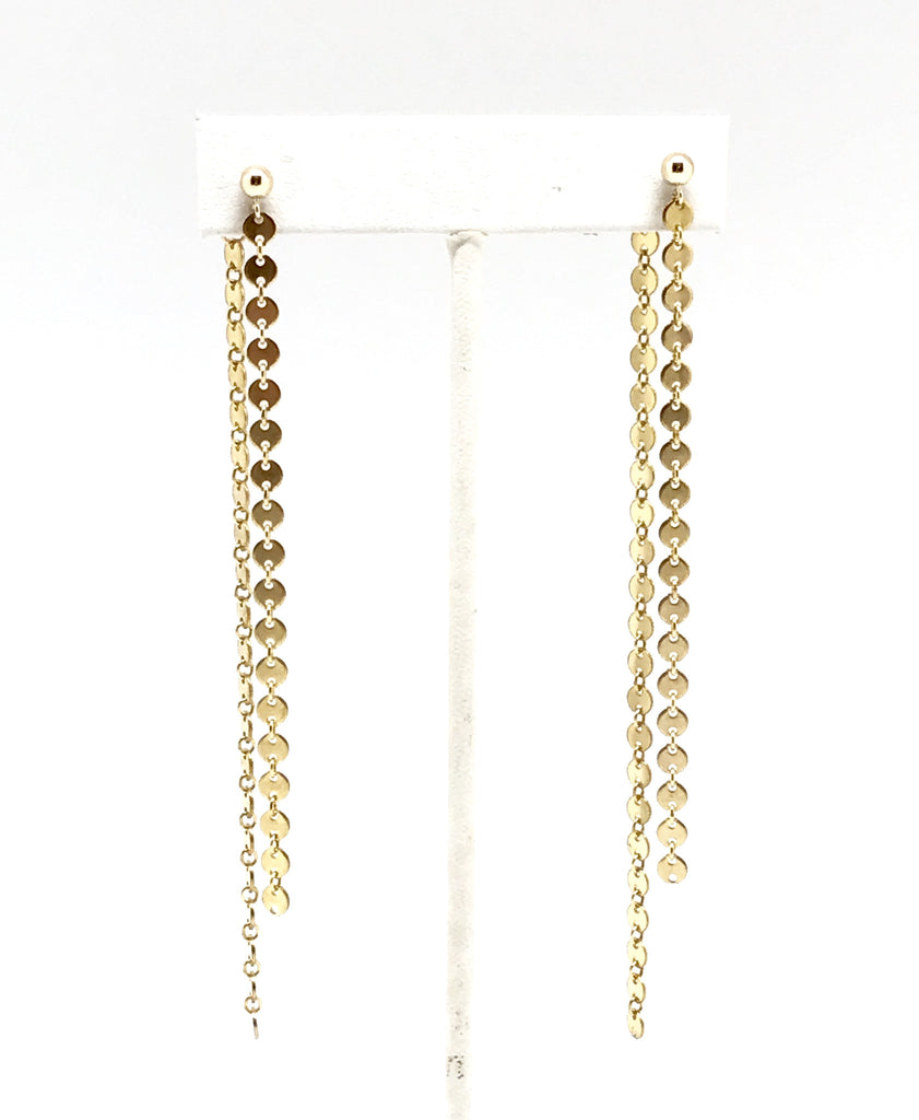 Gold Chain Duster Earrings