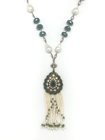 Green Onyx Statement Necklace