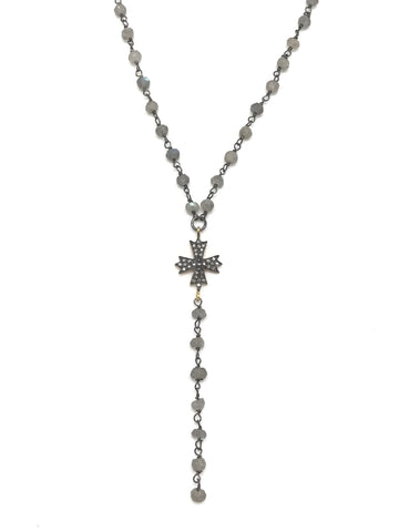 Delicate Diamond Cross Necklace
