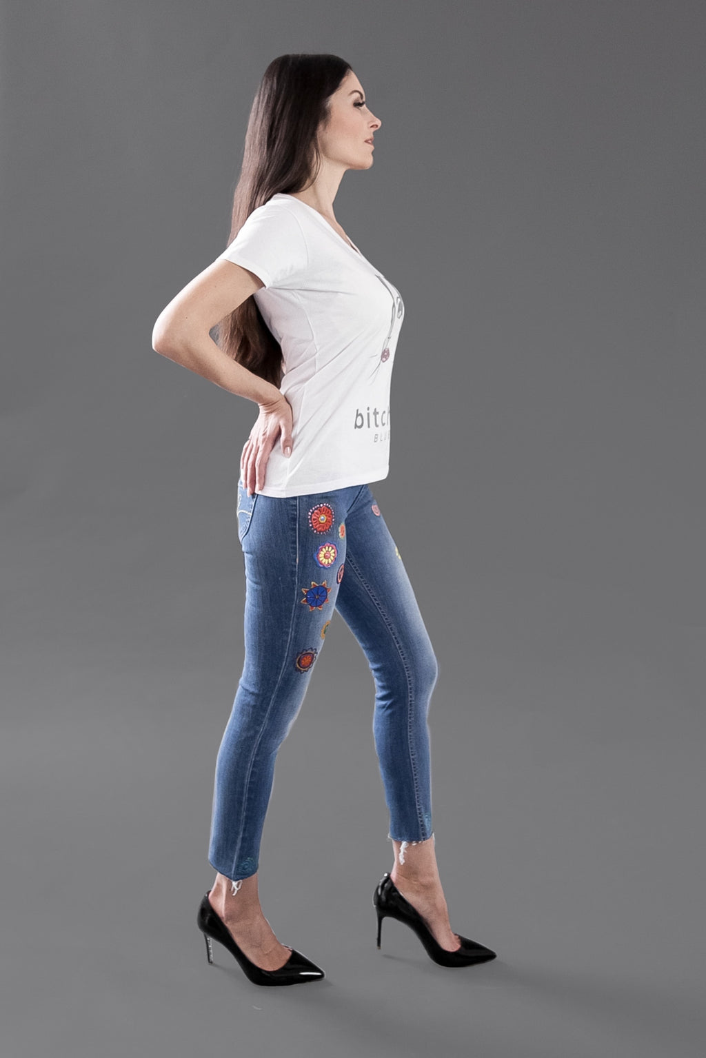 Saphira Summer Edition I - Skinny painted Jeans