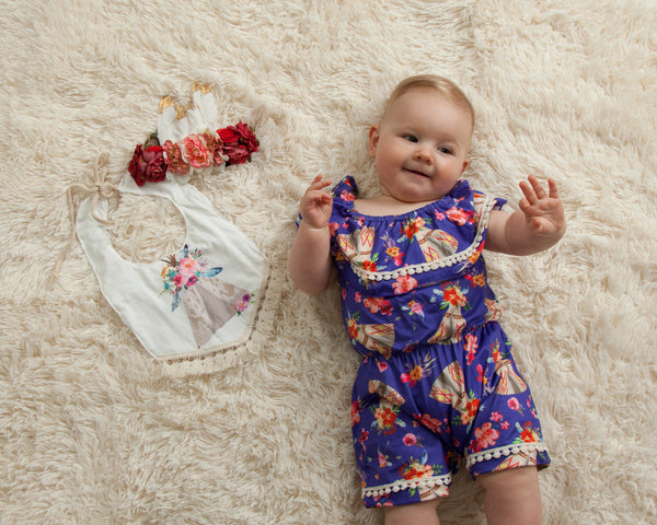 ruffle romper baby onesie outfit Pixie boutique boerne shop online or in store