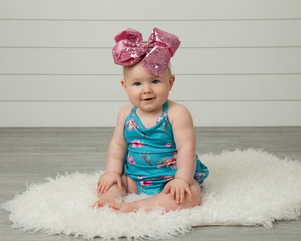 baby bubble onesie outfit pink purple blue floral Pixie boutique boerne shop online or in store