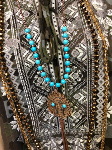 crystal strand necklace women's jewelry accessories boerne pixie boutique shop online or in store