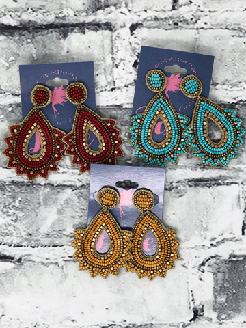 desert dreaming seed bead earrings women's jewelry accessories pixie boerne boutique shop online or in store
