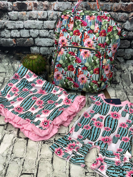 cactus minky blanket baby infant toddler kids girls clothing accessories boerne pixie boutique shop online or in store