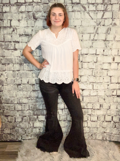black bell bottom jeans pants trousers bell bottoms | shop women's clothing clothes apparel online or in store at boerne pixie boutique | a favorite of locals and san antonio visitors too