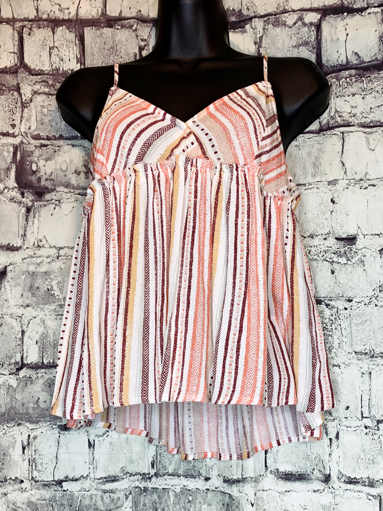 shop women's and girls' clothing clothes apparel gifts accessories jewelry online or in store at boerne pixie boutique | a favorite of locals and san antonio visitors too | best boerne boutiques | boho striped cami top